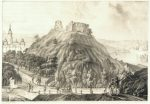 K.Račinskas. Pilies kalno vaizdas nuo Plikojo kalno. 1831. Litografija. LNM V. Drėma. Dingęs Vilnius, 2013