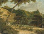 K. Ruseckas.Vilniaus botanikos sodas 1850-1855. Drobė, aliejus. LDM V. Drėma. Dingęs Vilnius, 2013