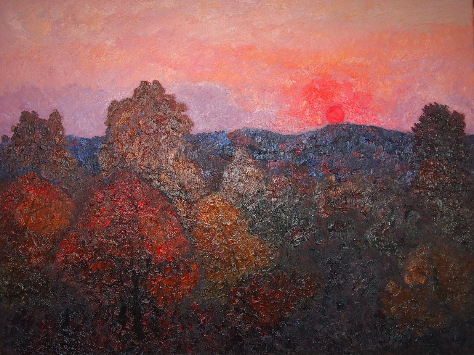 Saulė virš miško
