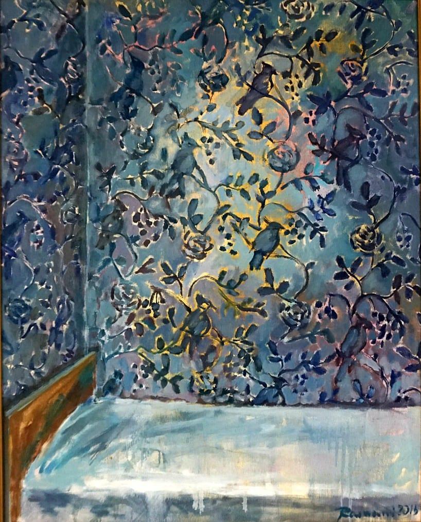 Mėlyni tapetai
