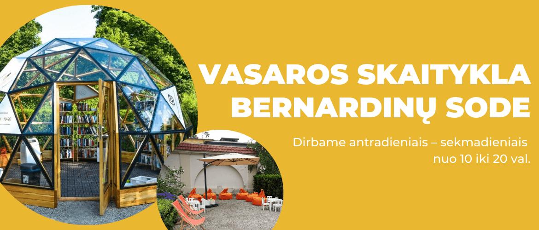 Vasaros skaitykla Bernardinų sode